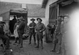 29th Battalion and Yukon Detachment [Men at a barn]