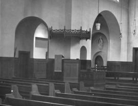 [Doorways and pews], St. James' Church [303 East Cordova Street]