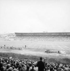 Football game at Empire Stadium