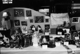Display of handicraft and art entries in P.N.E. Hobby Show
