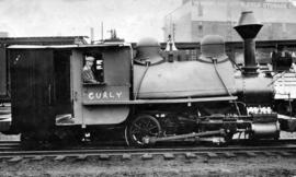 "[""Old Curly"" after refurbishment in C.P.R. yard]"