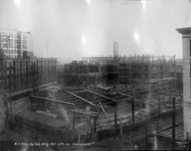 [B.C. Electric Railway Company's building under construction]