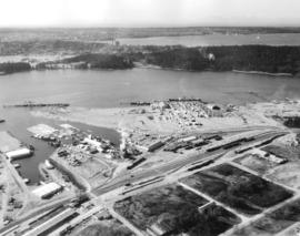 [Aerial view looking south-west of the] District of North Vancouver