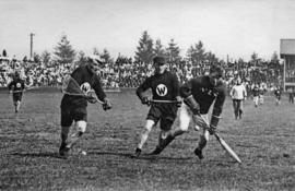 [Vancouver versus New Westminster at the athletic park at Homer Street and Smithe Street]