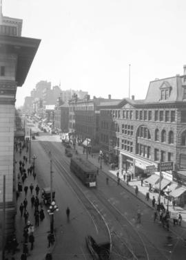 [View of the 400 block Granville Street from Hastings Street]