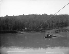 Ferry on Saskatchewan River, Alberta
