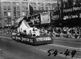 Pacific National Exhibition float in 1954 P.N.E. Opening Day Parade