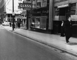 [View of 100 block West Cordova Street, south side, looking east]