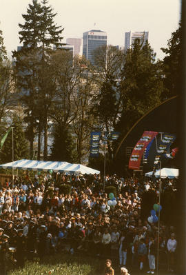 Crowd at the Malkin Bowl Stage