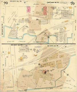 Plate 79 [Canadian Pacific yards to Beach Avenue to Burrard Street to False Creek]