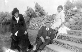 John Moore Bowell, Alma Cecilia Patterson Bowell, Alma Bowell and her child, Dennis, in West Poin...