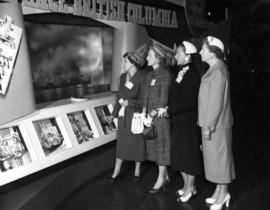 Unidentified women at health care display in P.N.E. B.C. Building