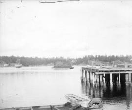 [Dock and boats in Esquimalt harbour]
