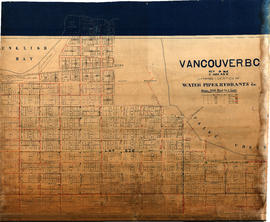 Vancouver, B.C. Plan showing location of water pipes, hydrants, etc. [Kitsilano]