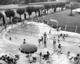[View of swimming and wading pools at Bowen Island Inn]