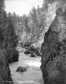 Cascade Falls, Kettle River, B.C. C. and W. Railway, C.P.R.