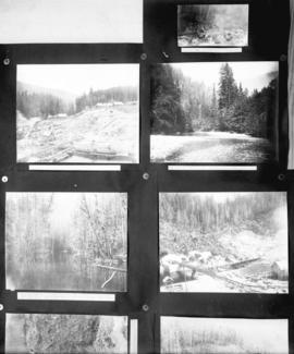 [Five views of Coquitlam Dam construction]
