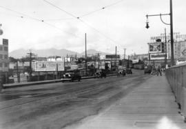 [Looking northwest from the Granville Bridge towards Pacific Street]