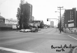 Burrard [Street] and Pacific [Street looking] north
