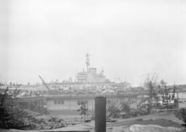 [View of an escort ship in Vancouver harbour]