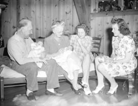 Mr. and Mrs. Dunsmuir with daughter and grandchildren