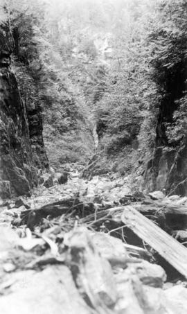 Cathedral Canyon, Indian river, Burrard Inlet near Wigwam Inn