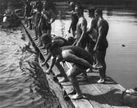 Burrard Inlet swim start