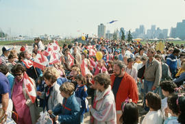 Crowd during Centennial birthday celebration in Stanley Park