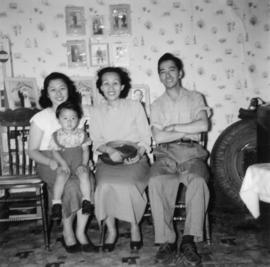 Mrs. Chan, Alfred, Phyllis, and Darrell