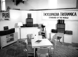 Encyclopedia Britannica display of encyclopedia sets and atlases