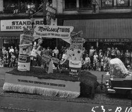 The General Paint Corporation of Canada float in 1953 P.N.E. Opening Day Parade