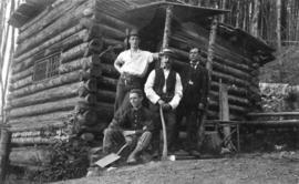 [Trythall's cabin at Mosquito Creek on Grouse Mountain]