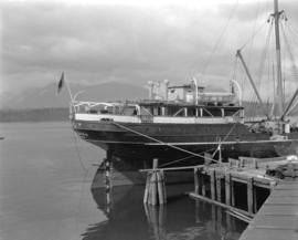 [Boat moored at Terminal Dock Company docks]