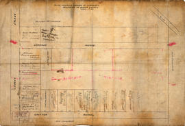 Plan shewing [showing] division of property belonging to Major C.W. Hill