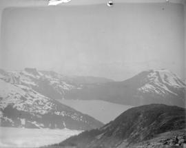 [View of Garibaldi Lake, Mount Clinker and Table Mountain]