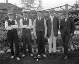 [Group portrait of men at the] Vancouver Lawn Bowling Club