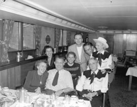 "[Passengers in the dining room] on the ""S.S. Prince George"""