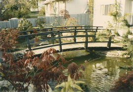 Pond and bridge at 8578 Adera Street