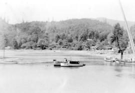 View of vessels, possibly at Snug Cove