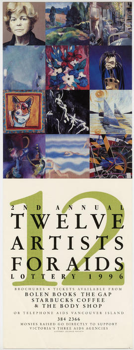 2nd annual twelve artists for AIDS lottery 1996 : monies raised go directly to support Victoria&#...
