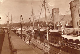 Empress of China at dock, 1906, Vancouver, B.C.