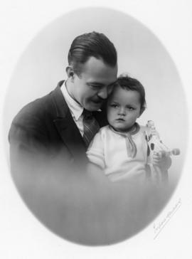 [Ted Taylor with daughter Mary Louise Taylor]