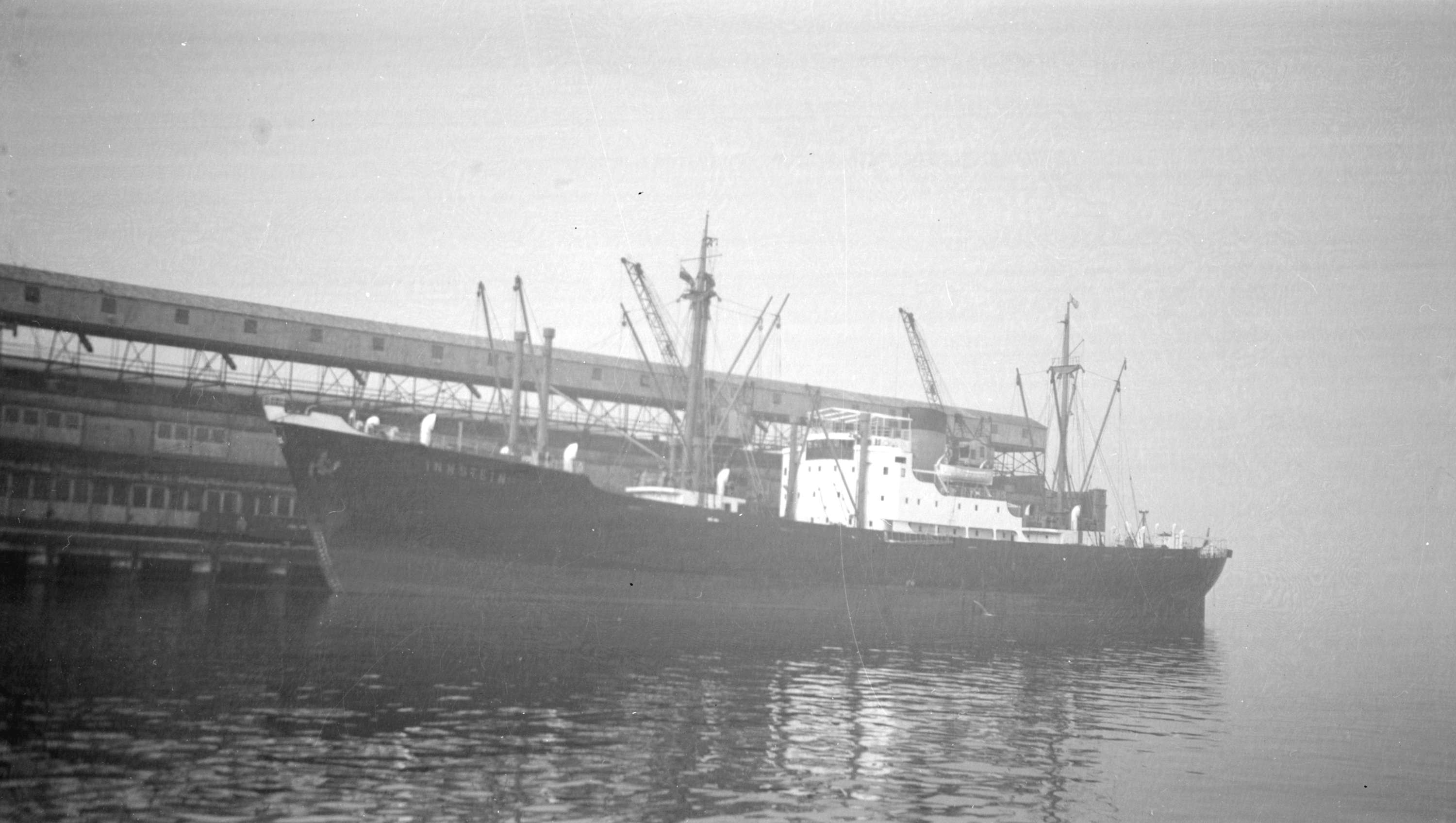 S.S. Innstein [at dock] - City of Vancouver Archives