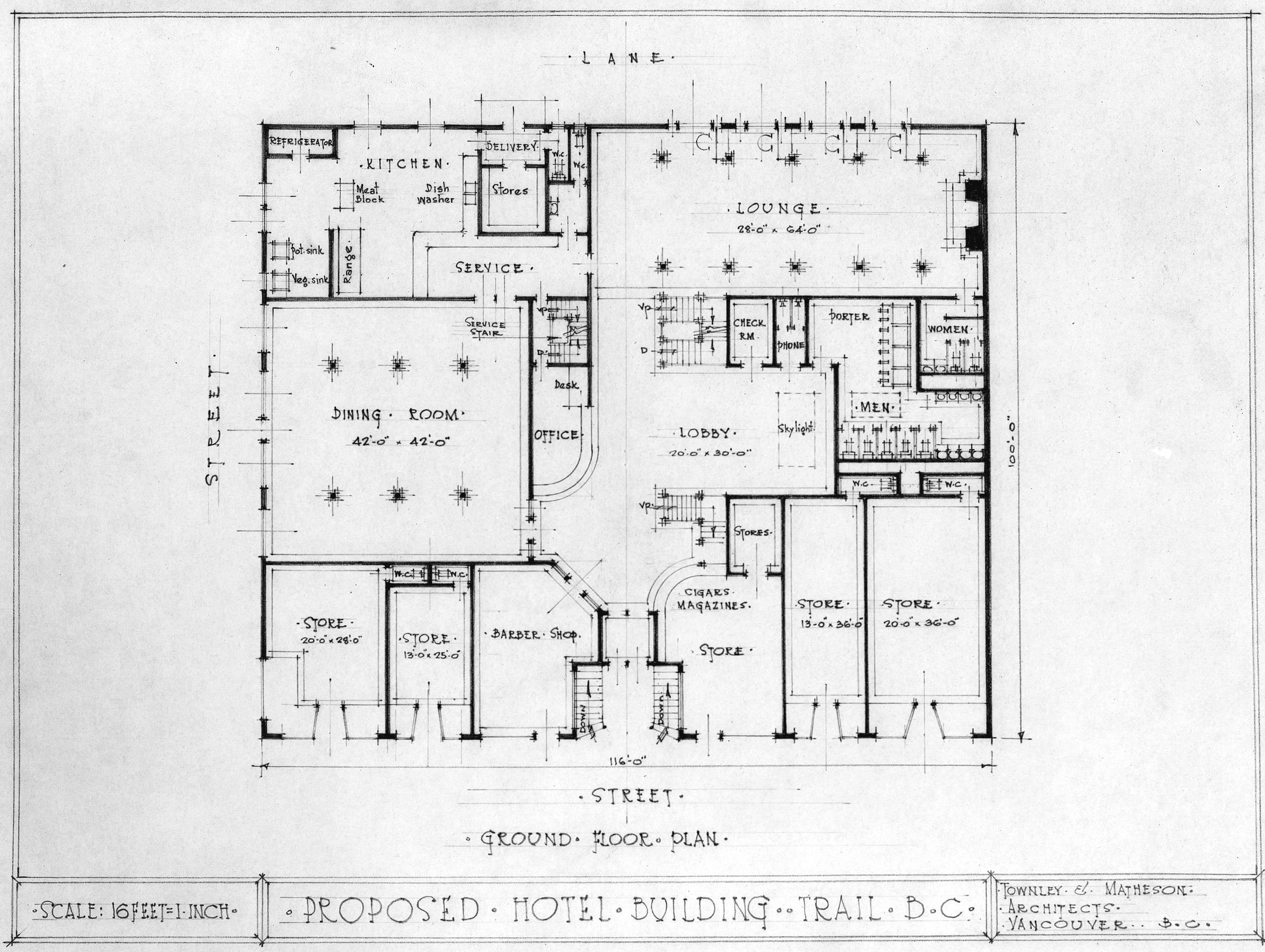 Hotel Room Designs Proposed Hotel Building Trail B C Ground Floor Plan