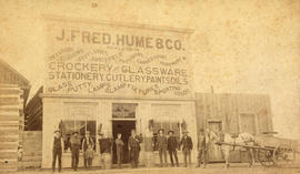 [Exterior of J. Fred Hume and Company general store]