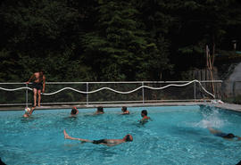 People swimming at Camp Capilano pool