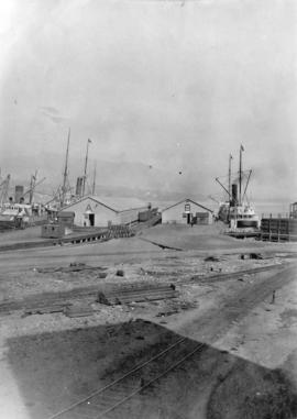 "CPR Pier A [Pier ""A - B"" with steamships]"