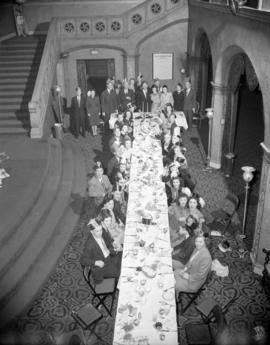 [New Year's party in the lobby of the Orpheum Theatre]
