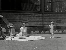 Easter 1935 Earls' Court [and] baby and Trudie