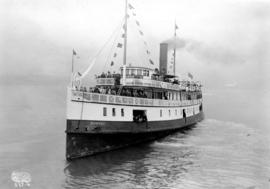 "[Captain J.A. Cates' Bowen Island steamer S.S. ""Bowena"", of the Terminal Steamship..."
